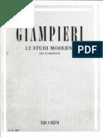 Alamiro Giampieri - 12 Studi Moderni Per Clarinetto