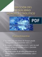 Corrección del desequilibrio hidroelectrolítico