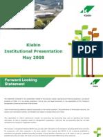 Institutional Presentation - 1Q08