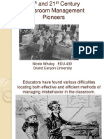 Grand canyon University 20th and 21st Century Classroom Management Pioneers edu-430.pptx