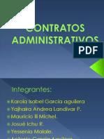 CONTRATOS ADMINISTRATIVOS DIAPOSITIVAS
