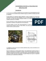 METODOS DE DETERMINACION DE LA VELOCIDAD DE INFILTRACIÓN