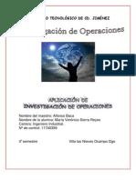 aplicación de investigación de operaciones