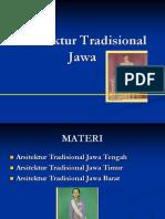 Arsitektur Tradisional Jawa