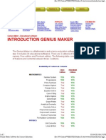 Genius Maker Software for Science Education 3