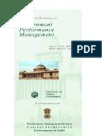 International Workshop onGovernment Performance ManagementJuly 1-12, 2013, NEW DELHI, INDIA