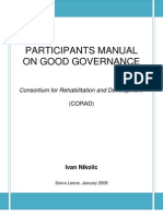 PARTICIPANTS MANUAL ON GOOD GOVERNANCE