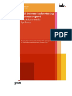 IAB Report on Internet Advertising Spends in US :