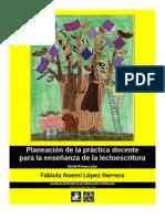 Fabiola Noemí López Herrera. Planeación de la práctica docente para la enseñanza de la lectoescritura _Fragmento_