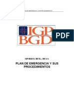Plan y Procedimeintos de Emergencia