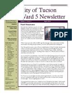 Councilmember Richard Fimbres - Ward 5 April 2013 Newsletter