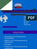 LA SISTEMATIZACIÓN DE EXPERIENCIAS