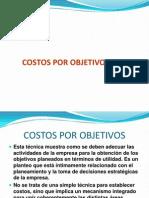 Presentación COSTOS POR OBJETIVOS