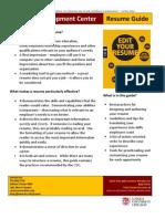 2013 Resume Guide