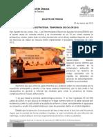 25/03/13 Germán Tenorio Vasconcelos inicia Sso Estrategia, Temporada de Calor 2013