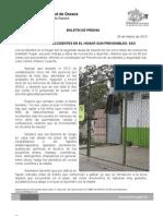 31/03/13 Germán Tenorio Vasconcelos el 90% de Los Accidentes en El Hogar Son Prevenibles, Sso