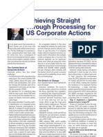 Special Report Corporate Actions DTCC