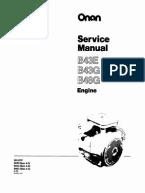 B43E-965-0757 - Onan Engine Service Manual | Carburetor