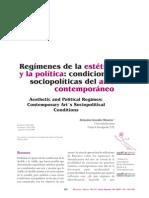 Regimen de La Estetica y La Politica