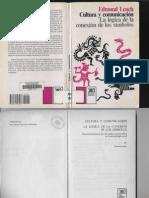 62579750 Leach Edmund R 1999 1976 Cultura y Comunicacion La Logica de La Conexion de Los Simbolos Madrid Siglo XXI