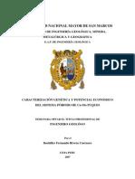 CARACTERIZACIÓN GENÉTICA Y POTENCIAL ECONÓMICO DEL SISTEMA PÓRFIDO DE CU-MO PUQUIO