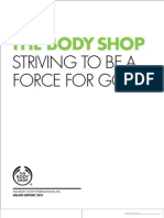 The Body Shop Values Report
