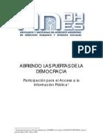 Abriendo Las Puertas de La Democracia 2007-2008