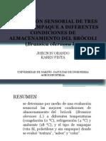 Brocoli Evaluacion Sensorial