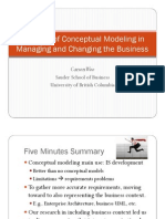 Woo_keynote_er2011 - The Role of Conceptual Modeling in Managing and Changing the Business