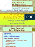 Basic Tenets of Saiva Siddhanth Am