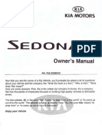 2002 Sedona Owners Manual En
