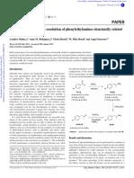 Enzymatic Enantiomeric Resolution of Phenylethylamines