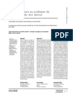 Index Katz na avaliaçao da funcionalidade de idosos
