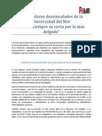 Trabajadores Desvinculados de La Universidad Del Mar