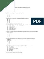 Price Evaluation Survey Form