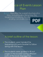 Sequence of Events Lesson Plan