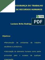 Higiene e Segurança Do Trabalho Na Gestão De Recursos Humanos