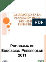 PRESENTACIÓN Didactica Preescolar 15Dic12