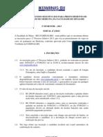 Edital Medicina 2013-2 FAMINAS-BH