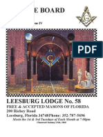 Leesburg Lodge 58 May 2013 Trestle Board