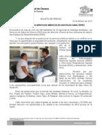 24/02/13 Germán Tenorio Vasconcelos SE REINCORPORAN SERVICIOS MÉDICOS EN SANTIAGO AMOLTEPEC