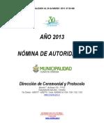 PROTOCOLO 2013