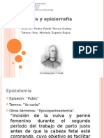 Episiotomía y episiorrafia
