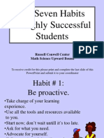 Seven Habits of Successful Students Upward Bound