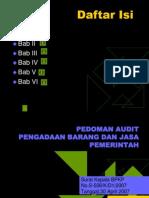 Pedoman Audit Pbj
