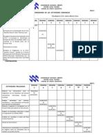 Cronograma de Las Actividades u.n.a. 472 - 2013