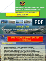 Paparan Tarif Pelayanan Barang Dan Jasa Di Pelabuhan 261112