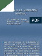 Materia de Migracion Humana
