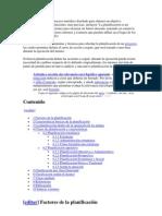 La planificación es el proceso metódico diseñado para obtener un objetivo determinado.docx