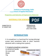 Material selection for screwdriver-sandeep sikri.pptx